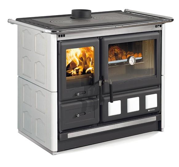 Cucina a legna con forno ROSA XXL maiolica di La Nordica Extraflam ...