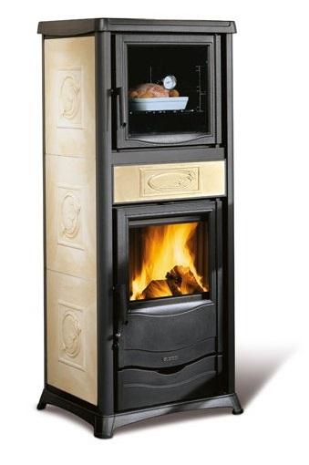 stufe legna con forno stufe stufa a legna etna acciaio vetro ceramico con forno fornetto. Black Bedroom Furniture Sets. Home Design Ideas