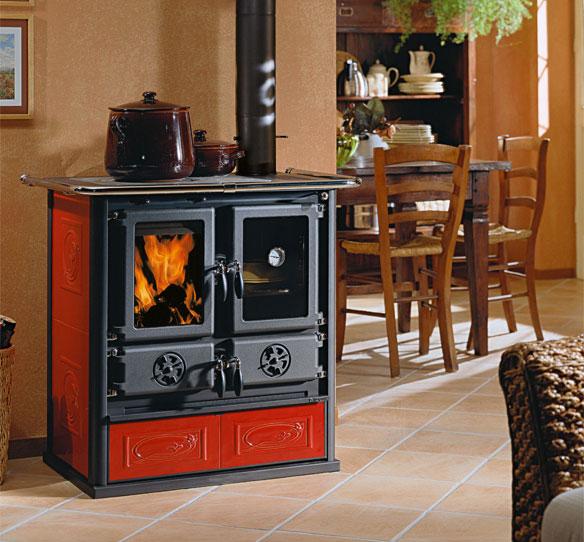 Cucina a legna con forno rosetta di la nordica extraflam - Cucina a legna con forno ...